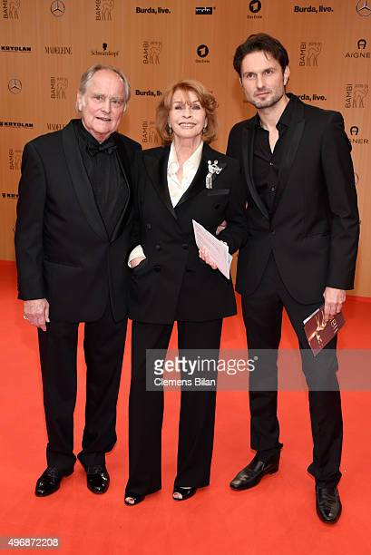 Michael Verhoeven Senta Berger and their son Simon Verhoeven attend the Bambi Awards 2015 at Stage Theater on November 12 2015 in Berlin Germany