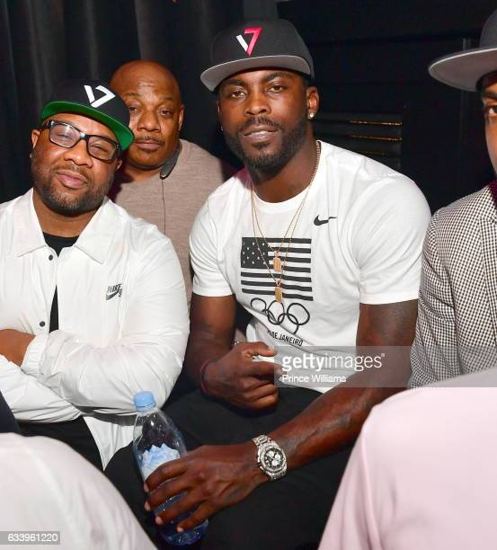 Michael Vick attends The Michael Vick retirement Party at Grooves on February 4 2017 in Houston Texas