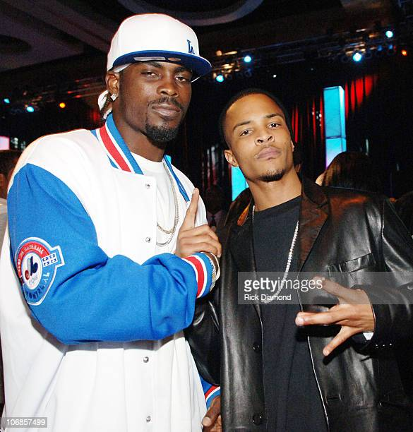 Michael Vick of the Atlanta Falcons with TI during Radio One Presents The 1st Annual Dirty Awards at Georgia International Convention Center in...