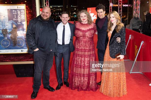 Michael Villar Jamie Bell Danielle Macdonald Guy Nattiv and Jaime Ray Newman attend the Skin premiere during the 69th Berlinale International Film...