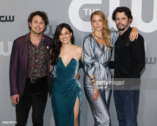 Michael Vlamis Jeanine Mason Lily Cowles and Nathan Parsons attend the 2018 CW Network Upfront at The London Hotel on May 17 2018 in New York City