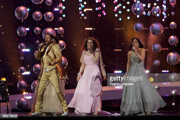 Michael von der Heide of Switzerland performs at the open rehearsal at the Telenor Arena on May 18 2010 in Oslo Norway In all 39 countries will take...