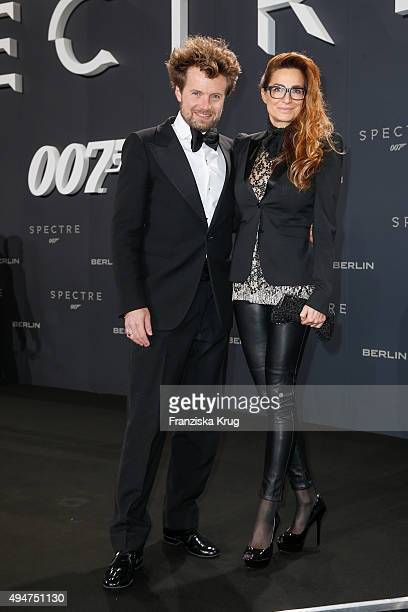 Michael von Hassel and Alexandra Kamp attend the Spectre' German Premiere on October 28 2015 in Berlin Germany
