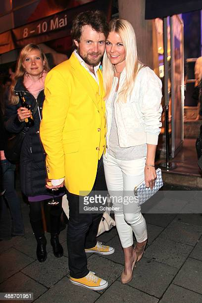 Michael von Hassel and Tina Kaiser attend the GAP PopUp Shop Opening on May 7 2014 in Munich Germany