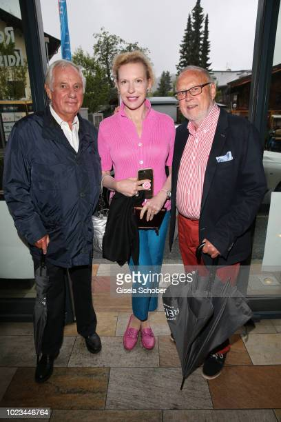 Michael von Wolkenstein, Sunnyi Melles and Joseph Vilsmaier during the closing ceremony of the Kitzbuehel Film Festival on August 25, 2018 in...