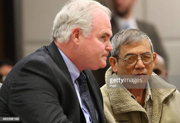 Michael Vuong sits with his attorney Anthony Salerno prior to being sentenced for being an accessory to hitandrun causing the 2013 death of aspiring...