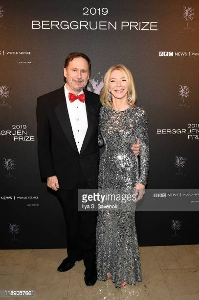 Michael W Doyle and Amy Gutmann attend the Fourth Annual Berggruen Prize Gala celebrating 2019 Laureate Supreme Court Justice Ruth Bader Ginsburg In...