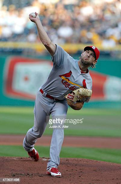 Michael Wacha of the St Louis Cardinals pitches in the first inning during the game against the Pittsburgh Pirates at PNC Park on May 8 2015 in...