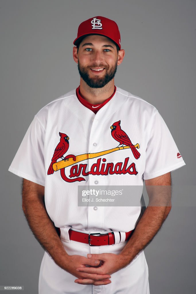 Michael Wacha #52 of the St. Louis Cardinals poses during Photo Day on Tuesday, February 20, 2018 at Roger Dean Stadium in Jupiter, Florida.
