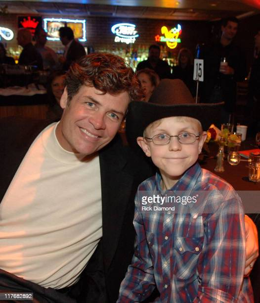 Michael Waltrip and Victory Junction Gang kid during Sprint and SunTrust presents Sound Speed Day1 at Wildhorse Saloon in Nashville TN United States