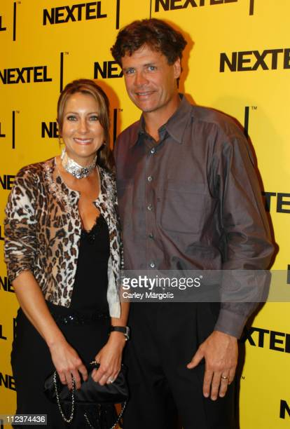 Michael Waltrip and wife Buffy during 2004 Nascar Nextel Cup Series Champion's Celebration at Marquee in New York City New York United States