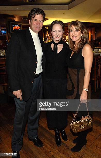 Michael Waltrip Chely Wright and Buffy Waltrip during Sprint and SunTrust presents Sound Speed Day1 at Wildhorse Saloon in Nashville TN United States