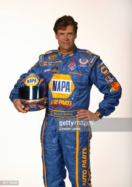 Michael Waltrip driver of the DEI NAPA Auto Parts Chevrolet is shown during media day at the NASCAR Nextel Cup Daytona 500 February 10 2005 at the...