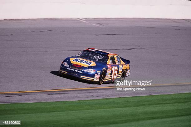 Michael Waltrip drives his car during the Daytona 500 at the Daytona International Speedway on February 16 2001 in Daytona Beach Florida