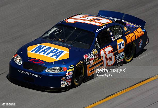 Michael Waltrip drives the Napa Chevrolet during practice for the NASCAR Nextel Cup Daytona 500 on February 12 2005 at the Daytona International...