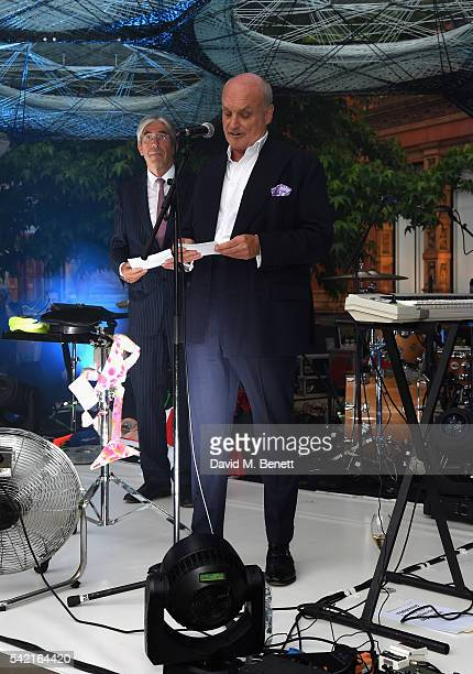 Michael Ward and Nicholas Coleridge attend the 2016 VA Summer Party In Partnership with Harrods at The VA on June 22 2016 in London England