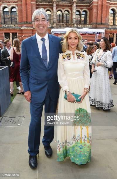 Michael Ward Harrods CEO and Helen David Chief Merchant at Harrods attend the Summer Party at the VA in partnership with Harrods at the Victoria and...