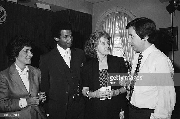 BLUES Michael Warren in Washington DC Pictured Unknown actor Michael Warren unknown NBC News' Chris Wallace at the White House in 1983