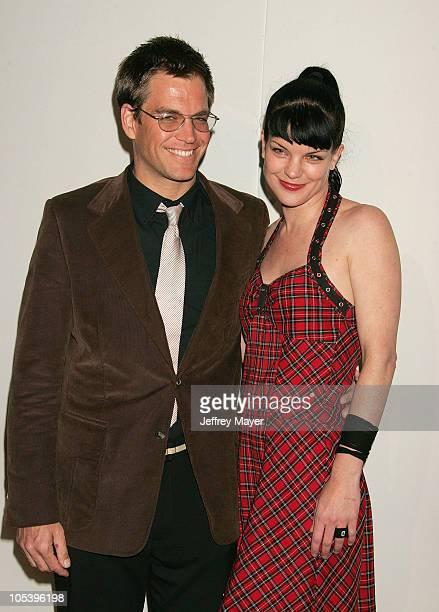 Michael Weatherly and Pauley Perrette during CBS and UPN 2005 TCA Party Arrivals at Quixote Studios in Los Angeles California United States