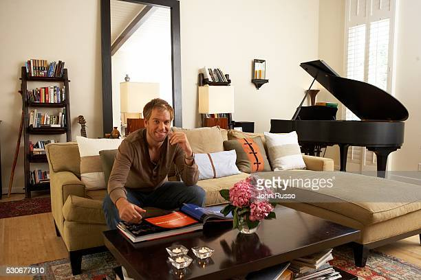 Michael Weatherly at Home