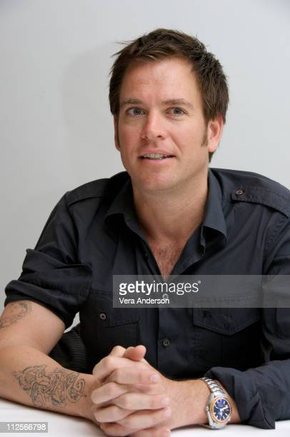 Michael Weatherly at the NCIS press conference at the Four Seasons Hotel on February 26 2008 in Beverly Hills California