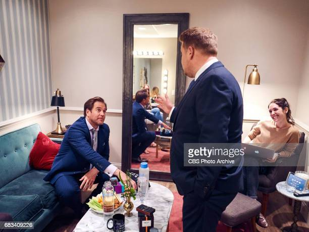 Michael Weatherly chats in the green room with James Corden during The Late Late Show with James Corden Monday May 8 2017 On The CBS Television...