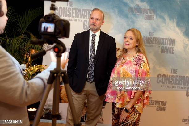 Michael Webber and Carole Baskin attend a screening of THE CONSERVATION GAME at Eaton Hotel on June 24, 2021 in Washington, DC.