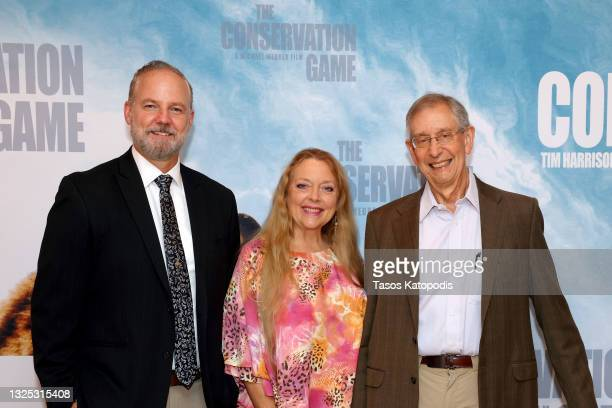 Michael Webber, Carole Baskin, and Howard Baskin attend a screening of THE CONSERVATION GAME at Eaton Hotel on June 24, 2021 in Washington, DC.