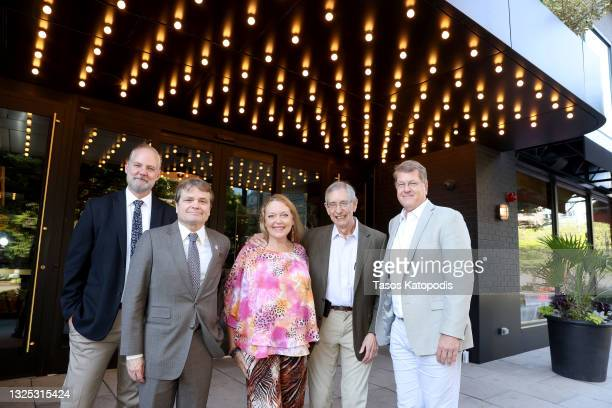 Michael Webber, Congressman Mike Quigley, Carole Baskin, Howard Baskin, and Steve Clemons attend a screening of THE CONSERVATION GAME at Eaton Hotel...