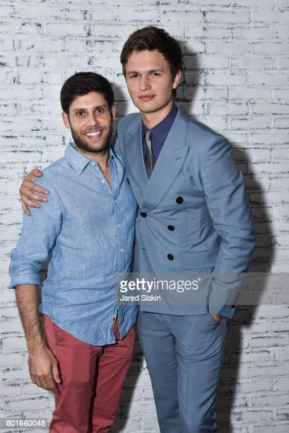 Michael Weber and Ansel Elgort attend TriStar Pictures with The Cinema Society Avion host the after party for 'Baby Driver' at The Crown at Hotel 50...