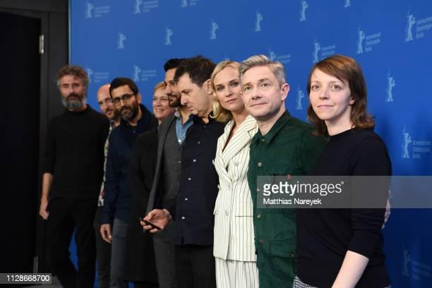 "Michael Weber, Jonathan Doweck, Eitan Mansuri, Anne Carey, Cas Anvar, Yuval Adler, Diane Kruger, Martin Freeman and Viola Fuegen pose at the ""The..."
