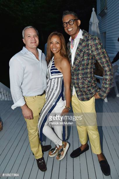 Michael Weil Shirley MadhereWeil and B Michael attend Katrina and Don Peebles Host NY Mission Society Summer Cocktails at Private Residence on July 7...