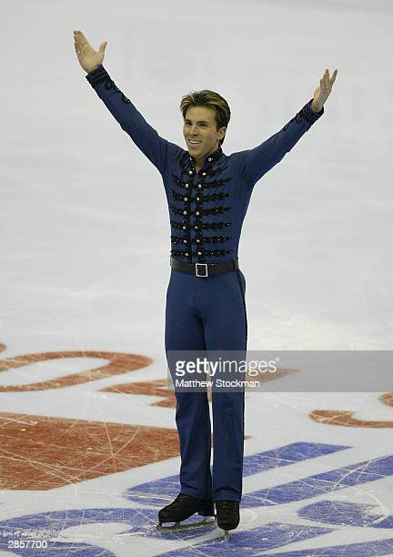 Michael Weiss competes in the free skate during the State Farm US Figure Skating Championships January 10 2004 at Philips Arena in Atlanta Georgia