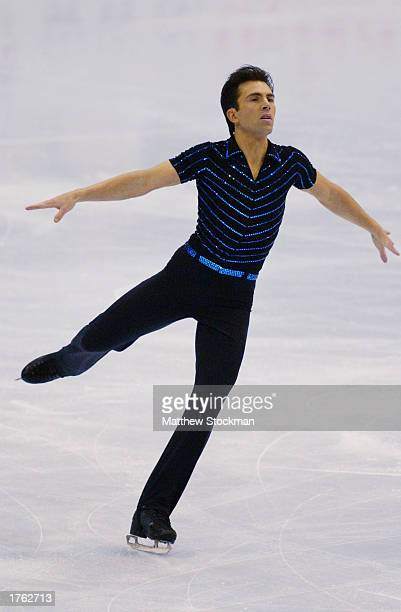 Michael Weiss competes in the free skate program during the State Farm US Figure Skating Championships on January 18 2003 at the American Airlines...
