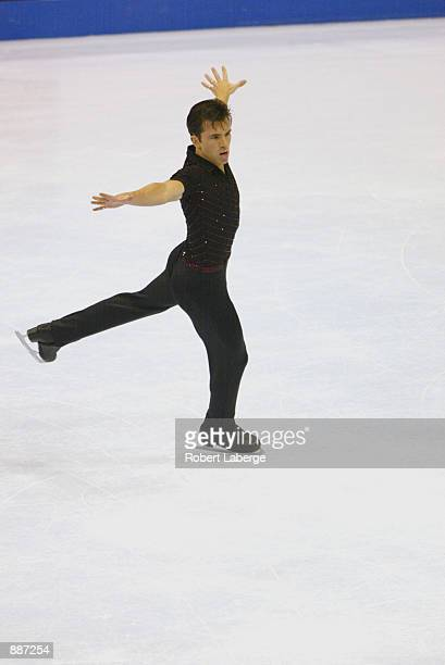 Michael Weiss of the USA competes in the men's short program during the State Farm US Figure Skating Championships at the Staples Center in Los...