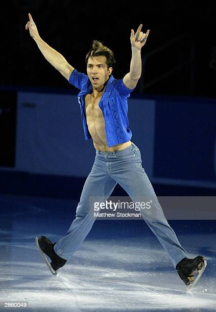 Michael Weiss participates in the Chevy Skating Spectacular during the State Farm US Figure Skating Championships January 11 2004 at Philips Arena in...