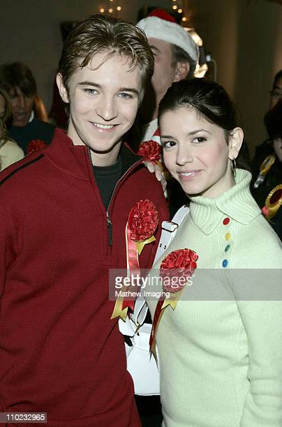 Michael Welch and Masiela Luscha during The 73rd Annual Hollywood Christmas Parade Red Carpet and Green Room at Hollywood Roosevelt Hotel in...