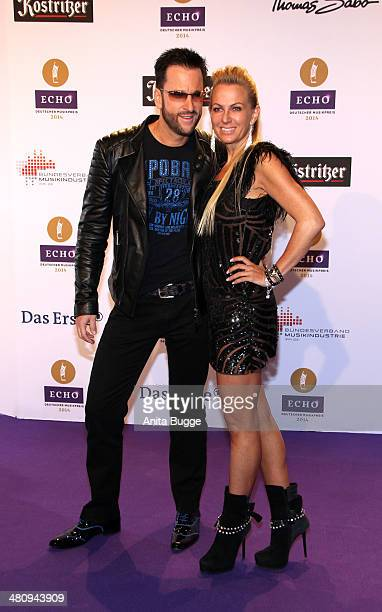 Michael Wendler and Claudia Norberg attend the 'Echo Award 2014' on March 27 2014 in Berlin Germany