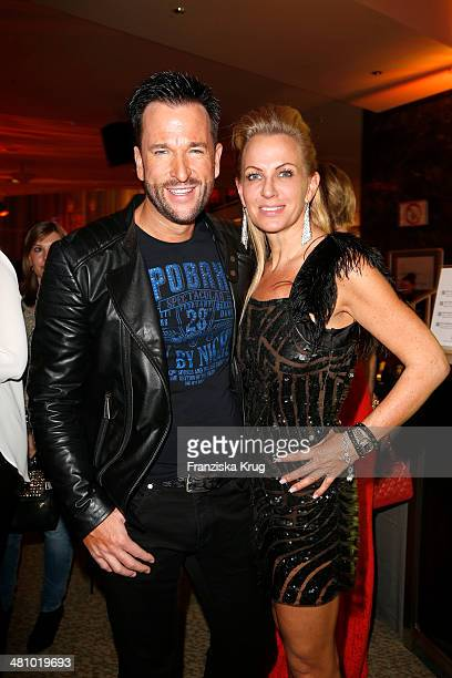Michael Wendler and Claudia Norberg attend the Echo Award 2014 party on March 27 2014 in Berlin Germany