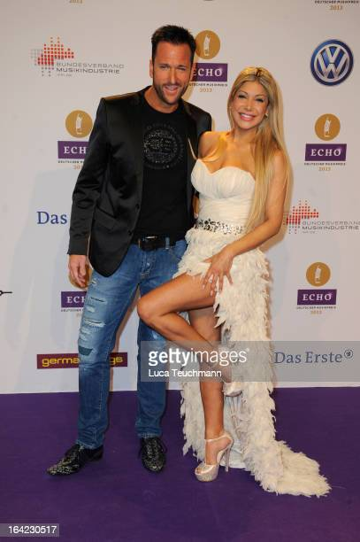 Michael Wendler and guest attend the Echo Award 2013 at Palais am Funkturm on March 21 2013 in Berlin Germany