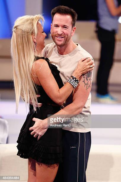 Michael Wendler and his wife Claudia Norberg attend the Promi Big Brother finals at Coloneum on August 29 2014 in Cologne Germany
