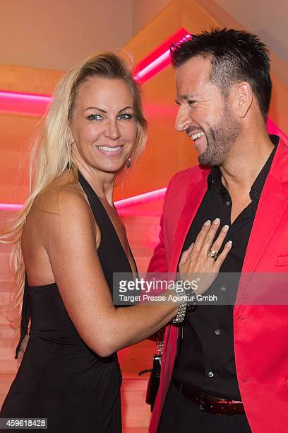 Michael Wendler and his wife Claudia Norberg attends the Smago Award 2014 at Best Western MOA Hotel on November 26 2014 in Berlin Germany