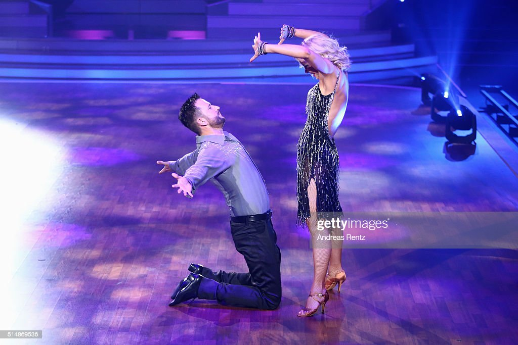 Michael Wendler and Isabel Edvardsson perform on stage during the 1st show of the television competition 'Let's Dance' on March 11, 2016 in Cologne, Germany.