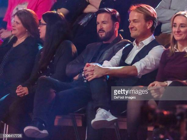 Michael Wendler and Manager Markus Krampe looks on during the 2nd show of the 13th season of the television competition Let's Dance on March 6 2020...