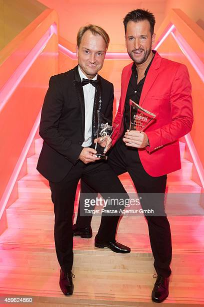 Michael Wendler and Markus Krampe attend the Smago Award 2014 at Best Western MOA Hotel on November 26 2014 in Berlin Germany