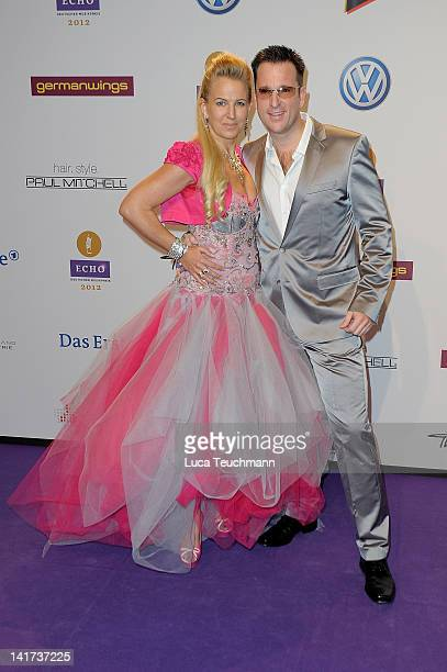 Michael Wendler and wife Claudia arrive for the Echo Awards 2012 at Palais am Funkturm on March 22 2012 in Berlin Germany