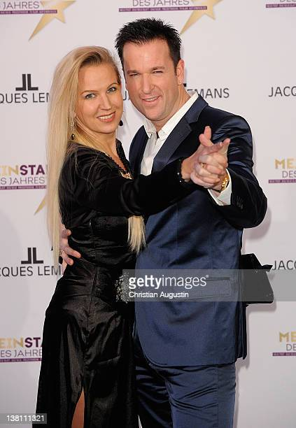 Michael Wendler and wife Claudia attend Mein Star des Jahres Awards at Stage Entertainment Theatre on February 2 2012 in Hamburg Germany