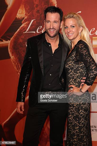 Michael Wendler and wife Claudia attend the LEA Live Entertainment Award 2014 at Festhalle Frankfurt on March 11 2014 in Frankfurt am Main Germany