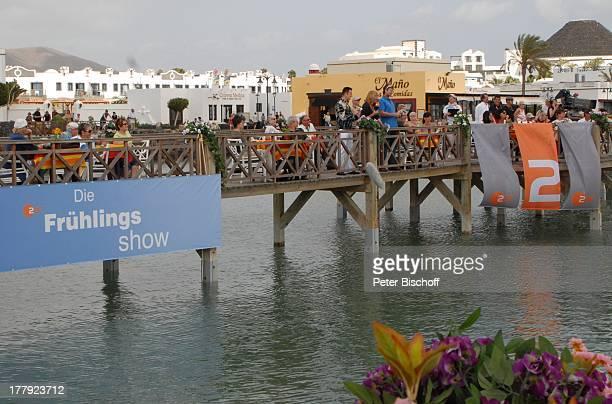 Michael Wendler Andrea Kiwi Kiewel Björn Dunkerbeck Touristen ZDFShow Die Frühlingsshow Marina Rubic—n HafenSteg Playa Blanca Insel Lanzarote...