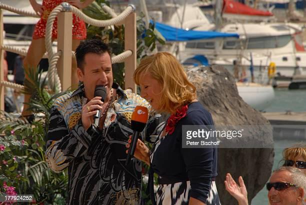 Michael Wendler Andrea Kiwi Kiewel ZDFShow Die Frühlingsshow Marina Rubic—n Lanis Grill Playa Blanca Insel Lanzarote Kanarische Insel Kanaren Spanien...